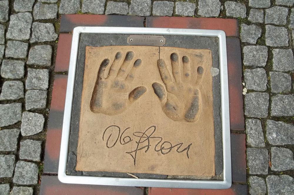 Handabdruck von Olaf Thon in Wittmund