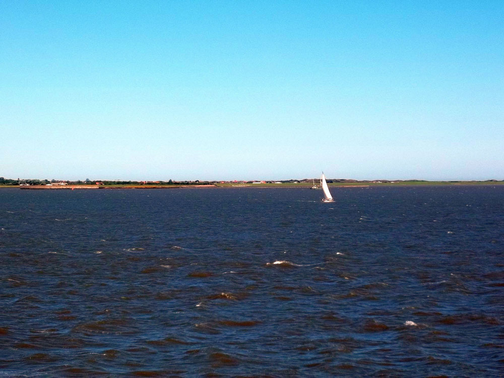Die Insel Langeoog von Faehre