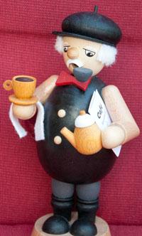 Opa Lingen zum Thema Kaffee trinken