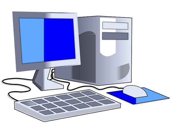 PC mit Internet