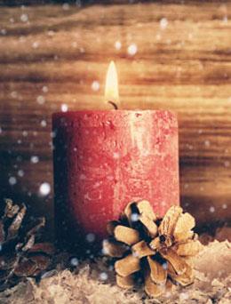 Kerze am ersten Advent