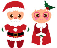 Weihnachts Opa und Oma