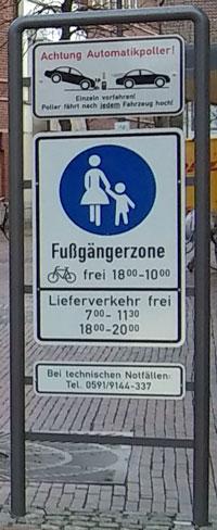 Schildt in Lingen Fußgängerzone